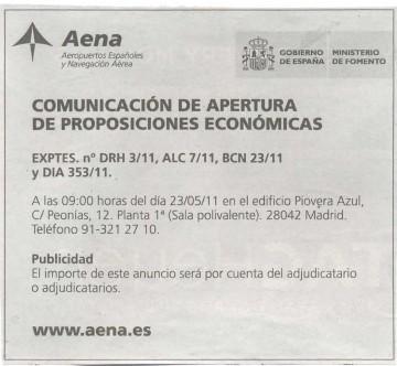 Anuncio en El País