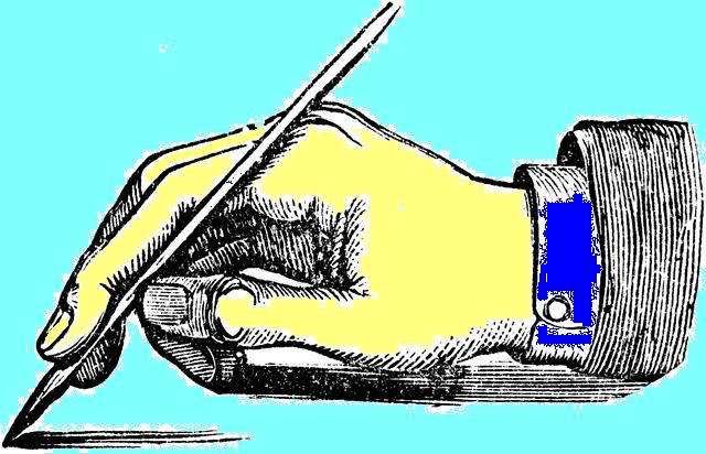Mano con lápiz ClipArtETC