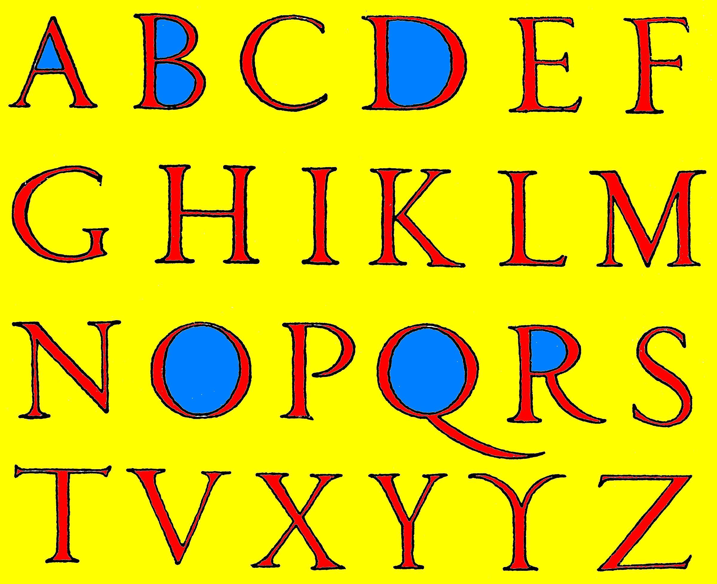Ilustración: ClipArtETC (Roman Renaissance Alphabet)