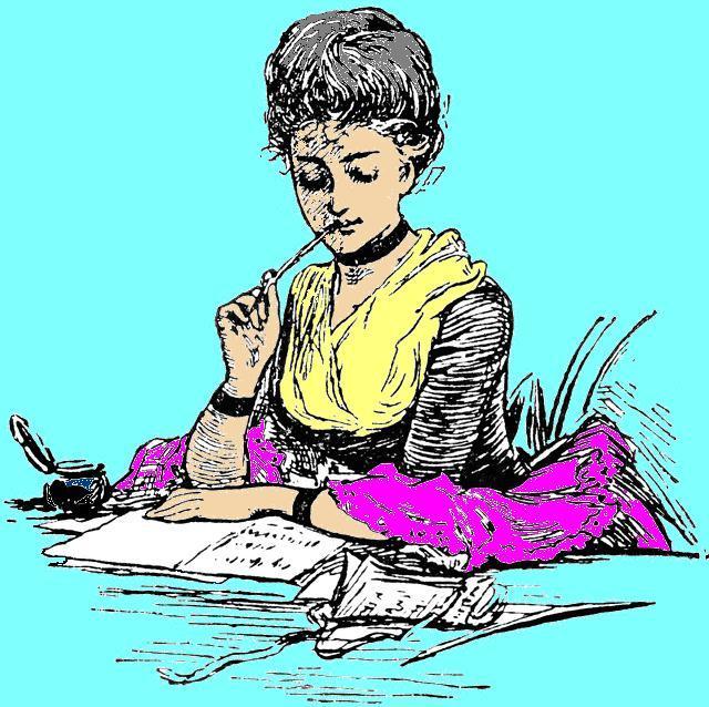Escritora pensando
